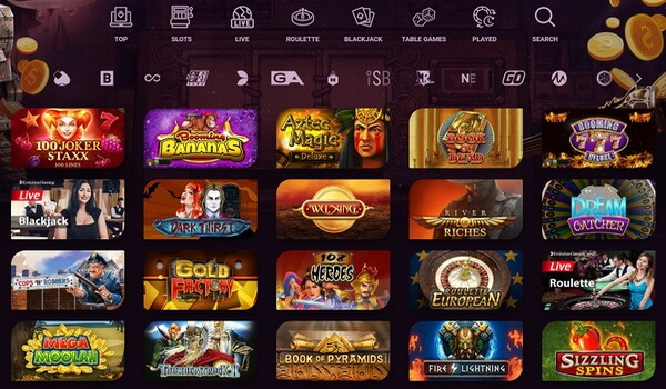 casino online games list